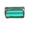 Glass Lamp Bead Rectangle 18x10x6mm Emerald/Bronze